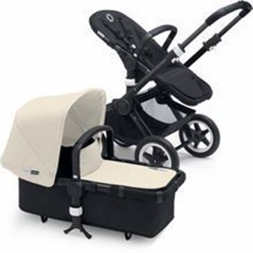 Picture of Bugaboo Buffalo Black Frame With Off White fabric Set