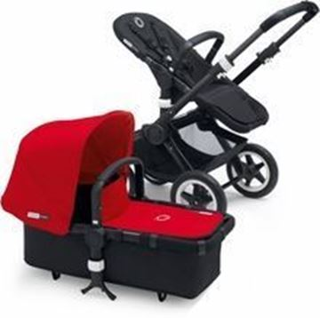 Picture of Bugaboo Buffalo Black Frame With Red Fabric set