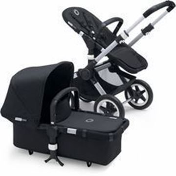 Picture of Bugaboo Buffalo Silver Frame With Black Fabric Set