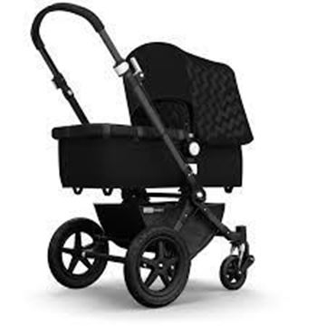Picture of Bugaboo Cameleon Black Frame with Black Chevron Fabric Set
