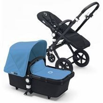 Picture of Bugaboo Cameleon Black Frame with Ice Blue Fabric set