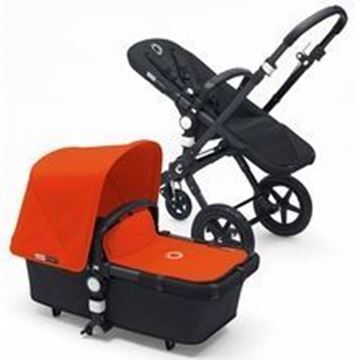 Picture of Bugaboo Cameleon Black Frame with Orange Fabric Set