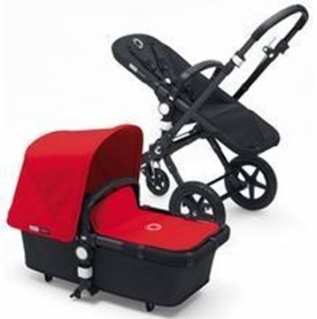 Picture of Bugaboo Cameleon Black Frame with Red Fabric Set