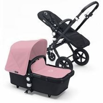 Picture of Bugaboo Cameleon Black Frame with Soft Pink Fabric Set