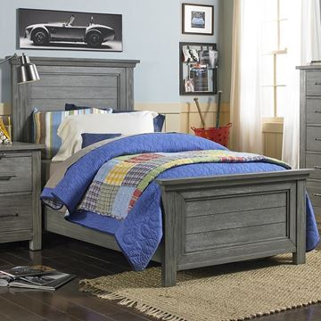 Picture of Dolce Baby Lucca Twin Bed (HB+FB) Weathered Grey